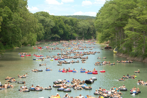 Photo: The famous Horseshoe Loop section of the Guadalupe River near Tube Haus in Canyon Lake, TX.