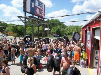 Large groups love Guadalupe River Tubing at Tube Haus because there is No Can Ban and they get a great Group Discount!