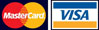 Image of Visa and Mastercard Logos, which are welcomed payment methods good at TubeHaus.com